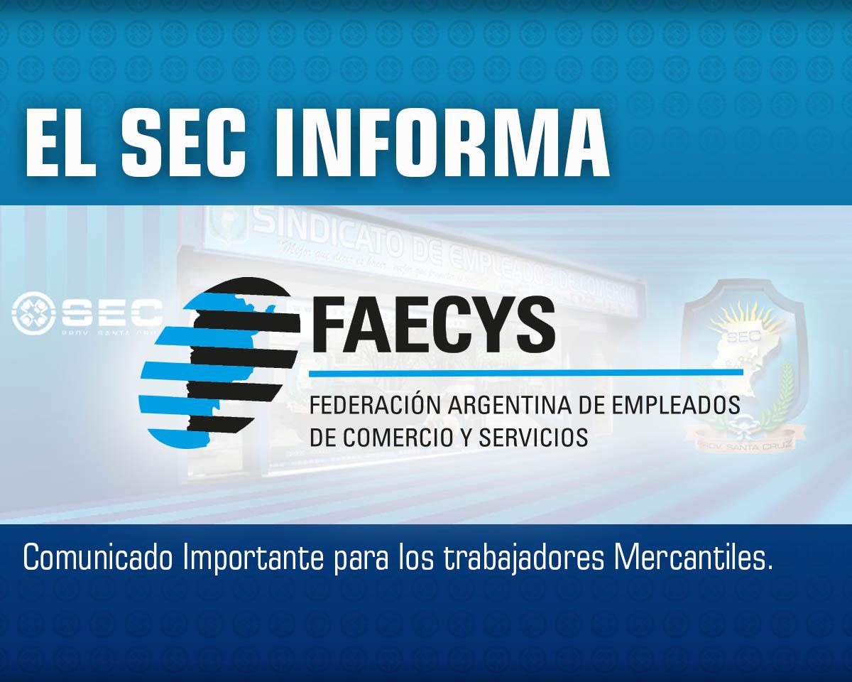 Comunicado Faecys –  Emergencia Sanitaria