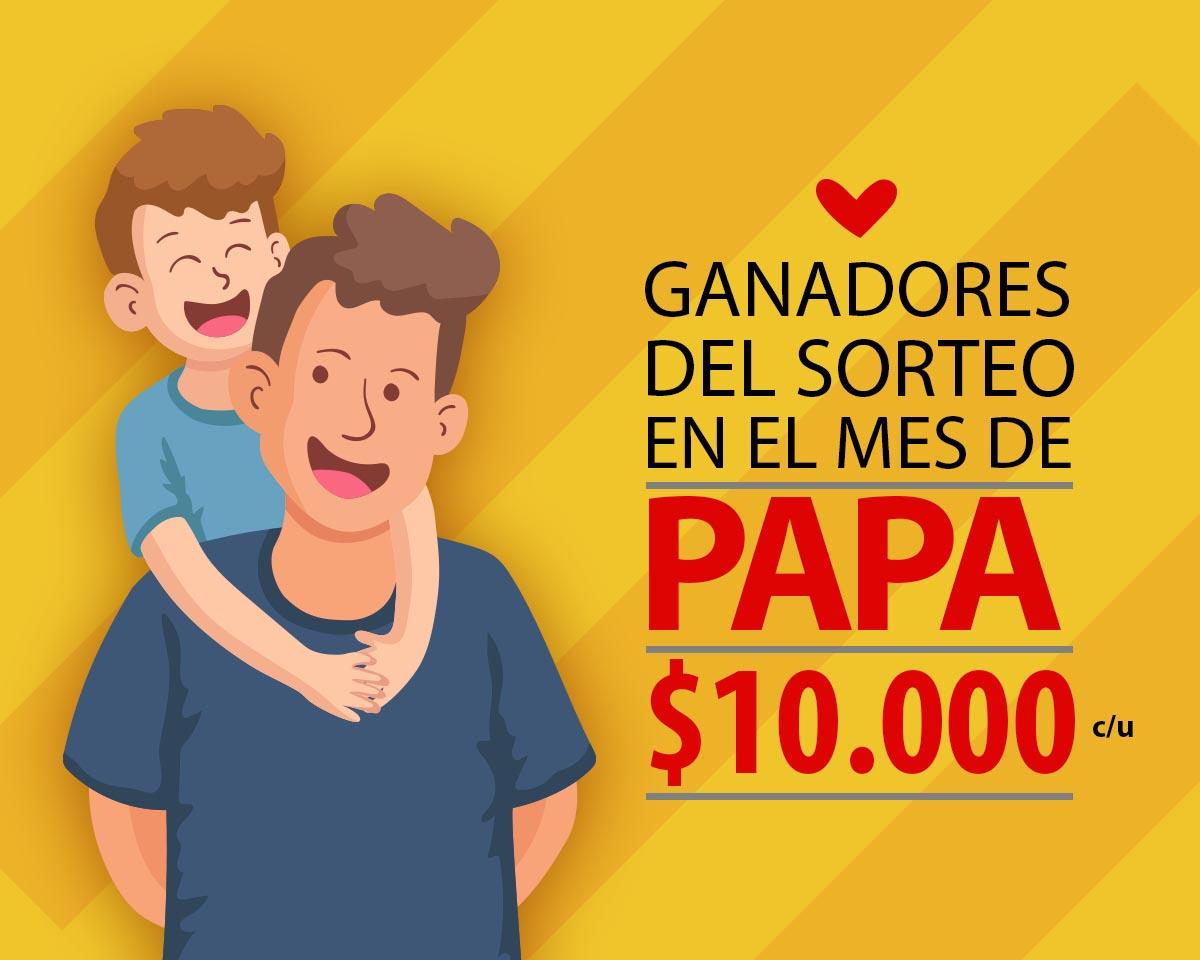 Estos son los afortunados ganadores del sorteo para PAPA por $10.000 c/u