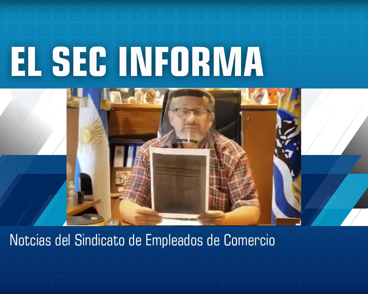 Información: Actualización Escala Salarial / Noviembre 2020.